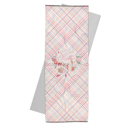 Modern Plaid & Floral Yoga Mat Towel (Personalized)