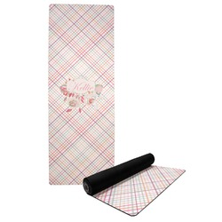 Modern Plaid & Floral Yoga Mat (Personalized)