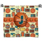 Basketball Full Print Bath Towel (Personalized)