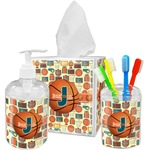 Basketball Acrylic Bathroom Accessories Set w/ Name or Text