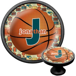 Basketball Cabinet Knob (Black) (Personalized)