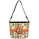 Basketball Bucket Bag w/ Genuine Leather Trim (Personalized)