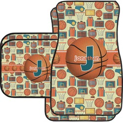 Basketball Car Floor Mats Set - 2 Front & 2 Back (Personalized)