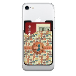 Basketball 2-in-1 Cell Phone Credit Card Holder & Screen Cleaner (Personalized)