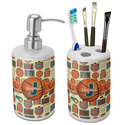 Basketball Bathroom Accessories Set (Ceramic) (Personalized)