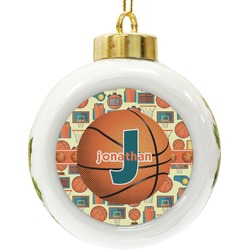 Basketball Ceramic Ball Ornament (Personalized)