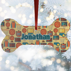 Basketball Ceramic Dog Ornaments w/ Name or Text