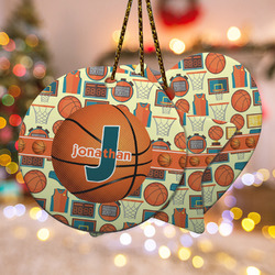 Basketball Ceramic Ornament w/ Name or Text