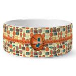 Basketball Ceramic Dog Bowl (Personalized)