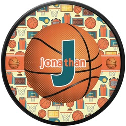 Basketball Round Trailer Hitch Cover (Personalized)