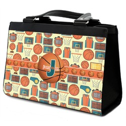 Basketball Classic Tote Purse w/ Leather Trim (Personalized)