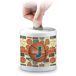 Basketball Coin Bank (Personalized)