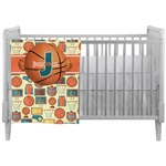 Basketball Crib Comforter / Quilt (Personalized)