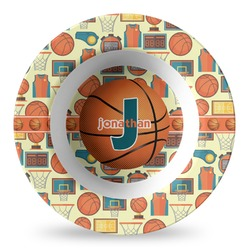 Basketball Plastic Bowl - Microwave Safe - Composite Polymer (Personalized)