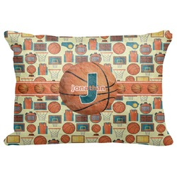 "Basketball Decorative Baby Pillowcase - 16""x12"" (Personalized)"