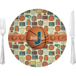Basketball Glass Lunch / Dinner Plates 10