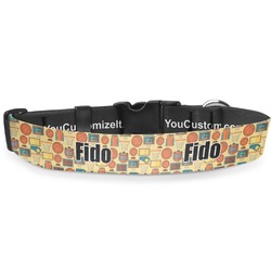 """Basketball Deluxe Dog Collar - Toy (6"""" to 8.5"""") (Personalized)"""