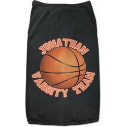 Basketball Black Pet Shirt (Personalized)