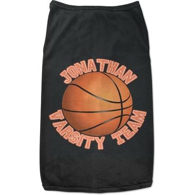 Basketball Black Pet Shirt (Personalized)