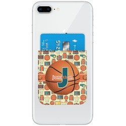 Basketball Genuine Leather Adhesive Phone Wallet (Personalized)