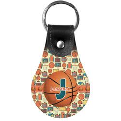Basketball Genuine Leather  Keychain (Personalized)