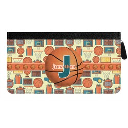 Basketball Genuine Leather Ladies Zippered Wallet (Personalized)