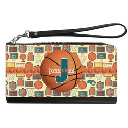 Basketball Genuine Leather Smartphone Wrist Wallet (Personalized)