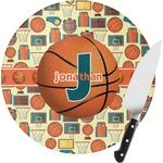 Basketball Round Glass Cutting Board (Personalized)
