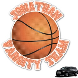 Basketball Graphic Car Decal (Personalized)