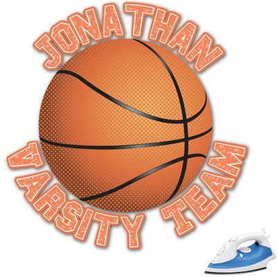 Basketball Graphic Iron On Transfer (Personalized)