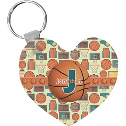 Basketball Heart Keychain (Personalized)