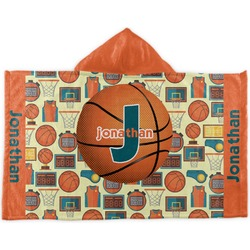 Basketball Kids Hooded Towel (Personalized)
