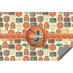 Basketball Indoor / Outdoor Rug - 8'x10' (Personalized)