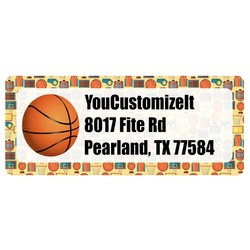Basketball Return Address Labels (Personalized)