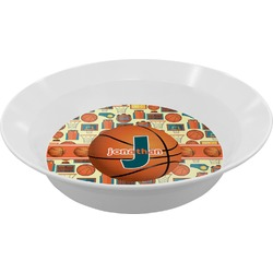 Basketball Melamine Bowl (Personalized)