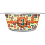 Basketball Stainless Steel Dog Bowl (Personalized)