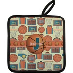 Basketball Pot Holder w/ Name or Text