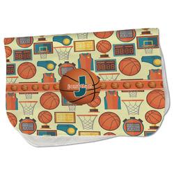Basketball Burp Cloth - Fleece w/ Name or Text