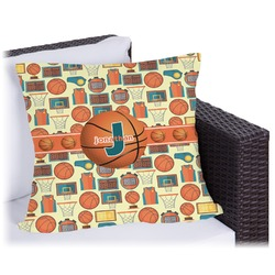 "Basketball Outdoor Pillow - 20"" (Personalized)"