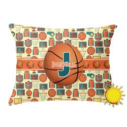 Basketball Outdoor Throw Pillow (Rectangular) (Personalized)