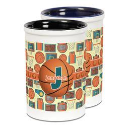 Basketball Ceramic Pencil Holder - Large