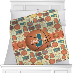 "Basketball Fleece Blanket - Twin / Full - 80""x60"" - Double Sided (Personalized)"