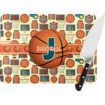Basketball Rectangular Glass Cutting Board (Personalized)