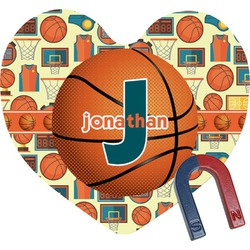 Basketball Heart Fridge Magnet (Personalized)