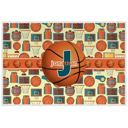 Basketball Laminated Placemat w/ Name or Text