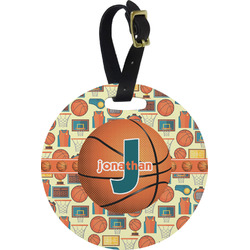 Basketball Round Luggage Tag (Personalized)