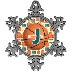Basketball Vintage Snowflake Ornament (Personalized)