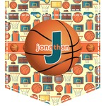 Basketball Iron On Faux Pocket (Personalized)