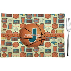 Basketball Rectangular Glass Appetizer / Dessert Plate - Single or Set (Personalized)