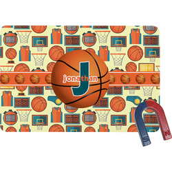 Basketball Rectangular Fridge Magnet (Personalized)